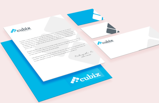 Cubix Estate Agency - Branding Logo design & marketing solutions
